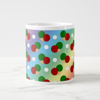 Rainbow ping pong pattern jumbo mug