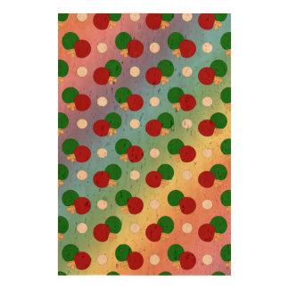 Rainbow ping pong pattern photo cork paper