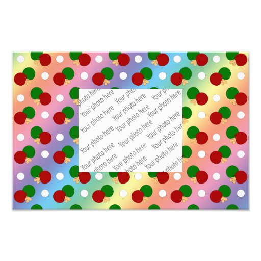 Rainbow ping pong pattern photographic print