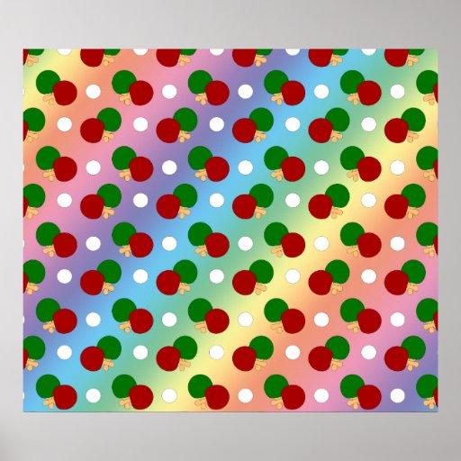 Rainbow ping pong pattern print