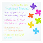 Rainbow Pinwheels Just Hanging Out! Card