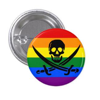 Rainbow Pirate Pride Button
