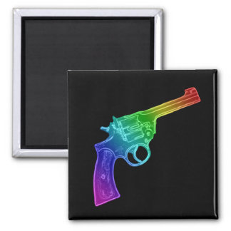 Rainbow Pistol magnet