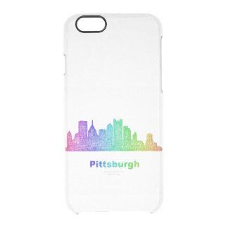 Rainbow Pittsburgh skyline Clear iPhone 6/6S Case
