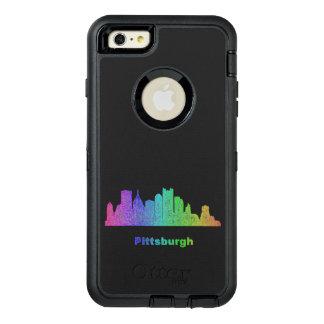 Rainbow Pittsburgh skyline OtterBox iPhone 6/6s Plus Case