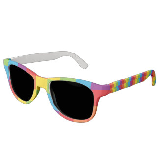 Rainbow Pixel LGBT Pride Sunglasses