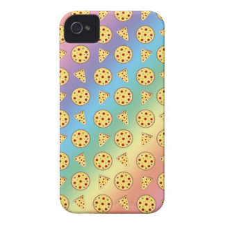 Rainbow pizza pattern iPhone 4 Case-Mate case