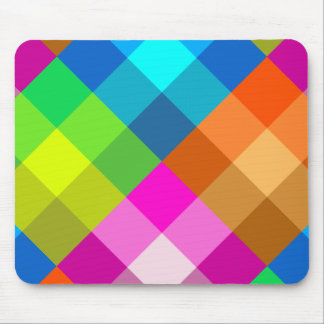Rainbow Plaid Mousepad