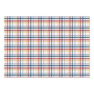 Rainbow Plaid Pack Of Chubby Business Cards