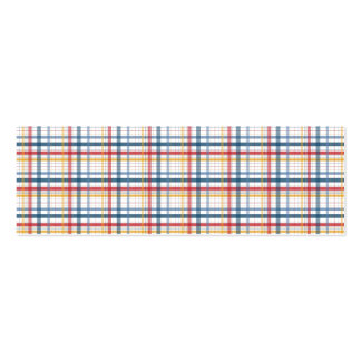 Rainbow Plaid Pack Of Skinny Business Cards