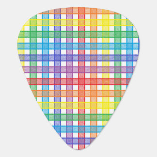 Rainbow Plaid Plectrum