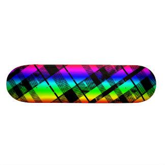 Rainbow Plaid Skateboard Deck