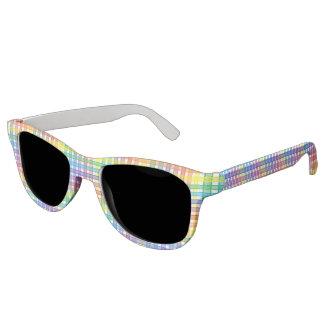 Rainbow Plaid Sunglasses