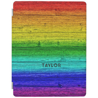 Rainbow Planks custom name device covers iPad Cover