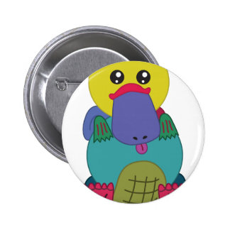 Rainbow Platypus 6 Cm Round Badge