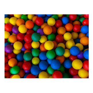 Rainbow Play Balls Pattern Postcard