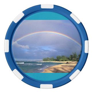 Rainbow Poker Chips