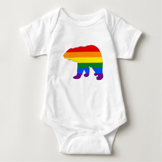 Rainbow Polar Bear Baby Bodysuit