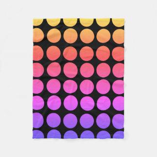 Rainbow Polka Dot Fleece Blanket