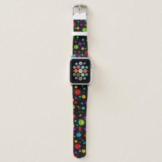 Rainbow Polka Dot Smileys Apple Watch Band