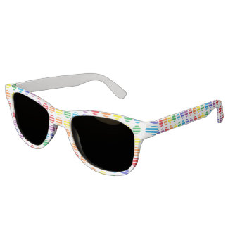 Rainbow Polka Dots and Stripes Sunglasses