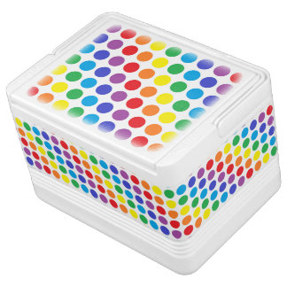Rainbow Polka Dots Cooler