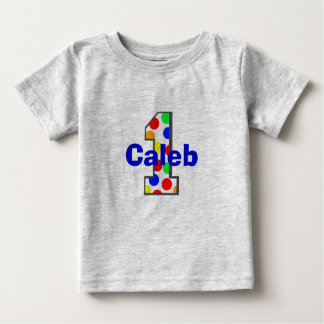 Rainbow Polka Dots First Birthday Shirt