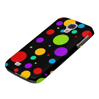 Rainbow Polka Dots Galaxy S4 Cases