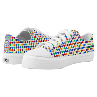 Rainbow Polka Dots Printed Shoes