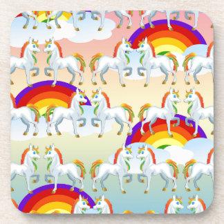 Rainbow pony coasters