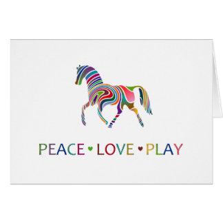 Rainbow Pony Greeting Card