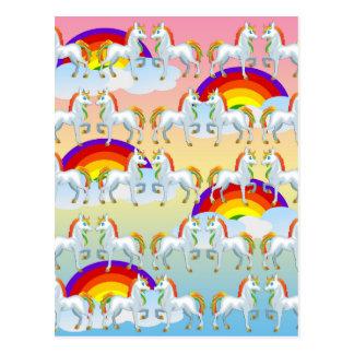 Rainbow pony postcard