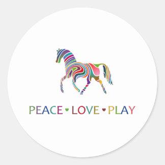 Rainbow Pony Round Stickers