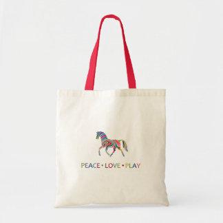 Rainbow Pony Budget Tote Bag