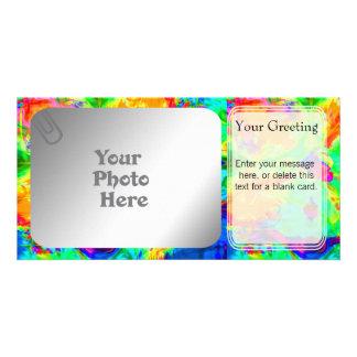 Rainbow Pool PhotoCard Template Customised Photo Card