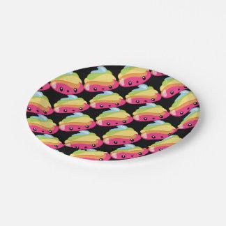 Rainbow Poop Emoji 7 Inch Paper Plate
