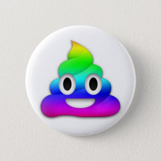 Rainbow Poop Emoji Button