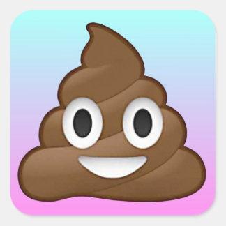 Rainbow poop sticker