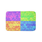 Rainbow pop art bubble wrap bath mat