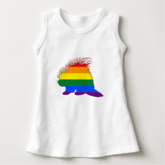 Rainbow Porcupine Dress