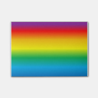 rainbow post-it notes