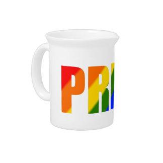 rainbow pride beverage drink pitcher