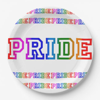 "Rainbow PRIDE Celebration 9"" Paper Party Plate"