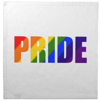 rainbow pride cloth napkin set