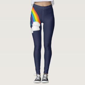 Rainbow Pride Deep Blue Parade Leggings