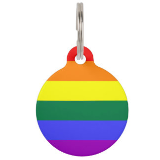 Rainbow Pride Flag Pet Nametag