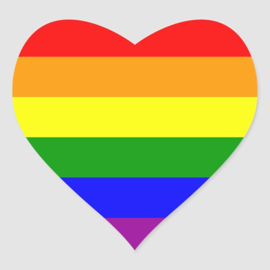 Rainbow Pride Gay Amp Lesbian Power Heart Love Heart Sticker
