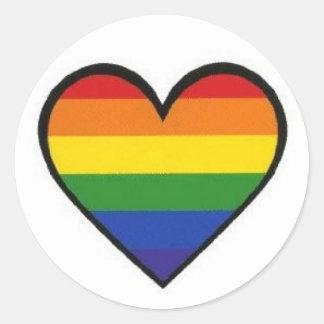 """Rainbow Pride Heart"" Stickers"