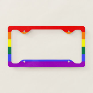 Rainbow Pride LGBT Themed Colorful Fun Licence Plate Frame