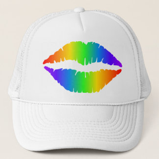 Rainbow Pride Lips Trucker Hat